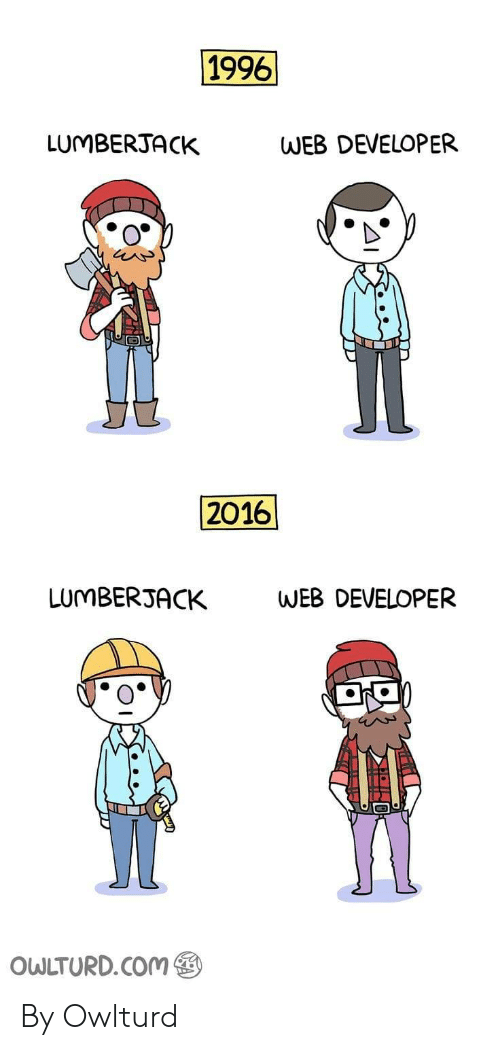 Com, Web, and Developer: 1996  LUMBERJACK  WEB DEVELOPER  2016  LUMBERJ  ACK  WEB DEVELOPER  OWLTURD.COm By Owlturd