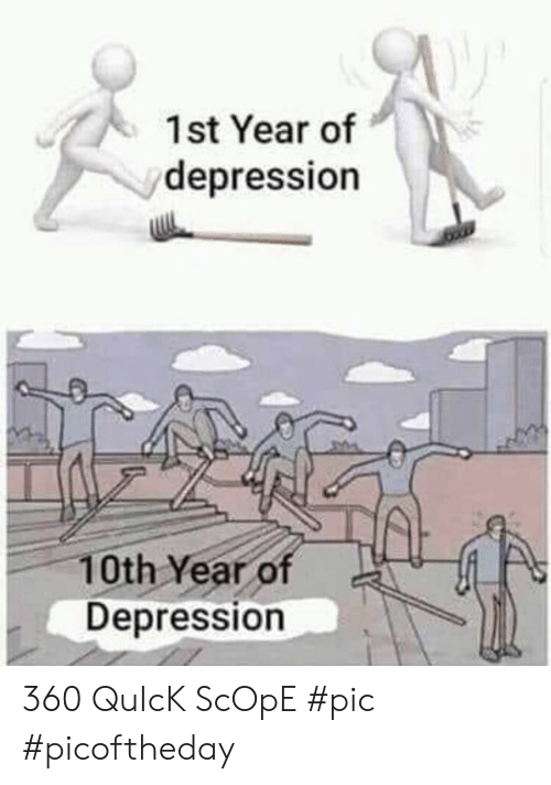 scope: 1st Year of  depression  10th Year  Depression 360 QuIcK ScOpE #pic #picoftheday