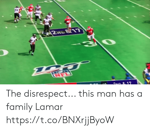 disrespect: 2स. 11  ত  ৭D ৪, 17  LO The disrespect... this man has a family Lamar https://t.co/BNXrjjByoW