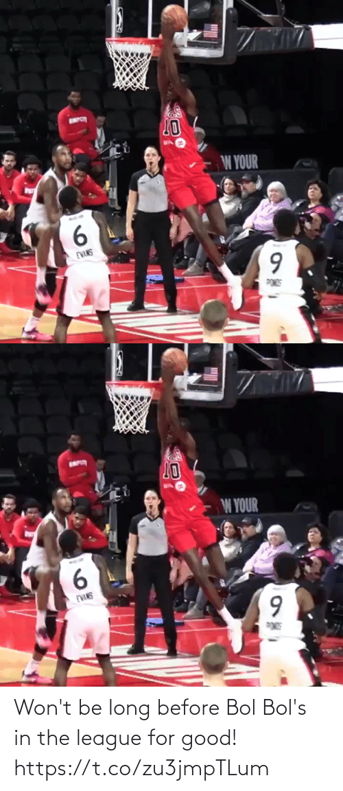 Memes, Good, and The League: 20  W YOUR  6.  EVANS  POS   10  W YOUR  6.  EVANS Won't be long before Bol Bol's in the league for good! https://t.co/zu3jmpTLum
