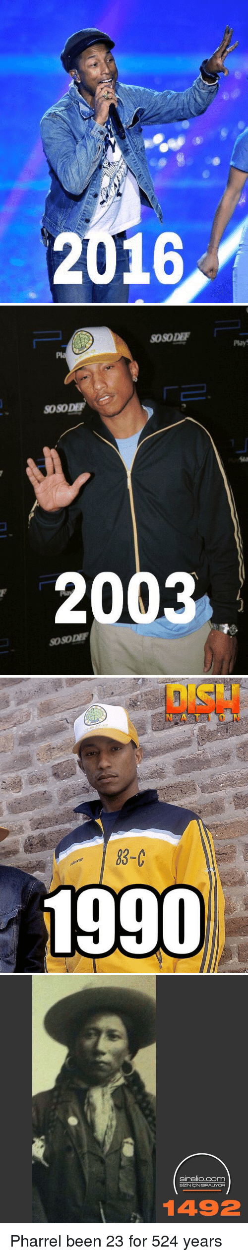 Funny, Pharrell, and Been: 2016   SOSODEF  SOSO DEF  2003  SOSODEF   83-C  1990   siralio.com  SiziNiortiN SIRALUYOR  1492 Pharrel been 23 for 524 years