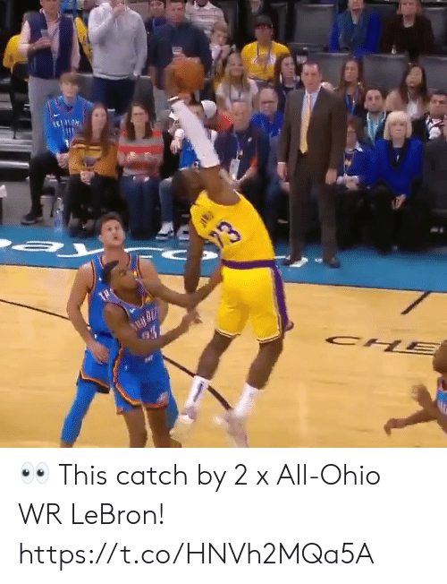 Ohio: 23  CH  PAR 👀 This catch by 2 x All-Ohio WR LeBron!  https://t.co/HNVh2MQa5A