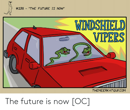"""Future:  #238 - """"THE FUTURE IS NOW""""  WINDSHIELD  VIPERS  THEMEERKAT GUY.COM The future is now [OC]"""