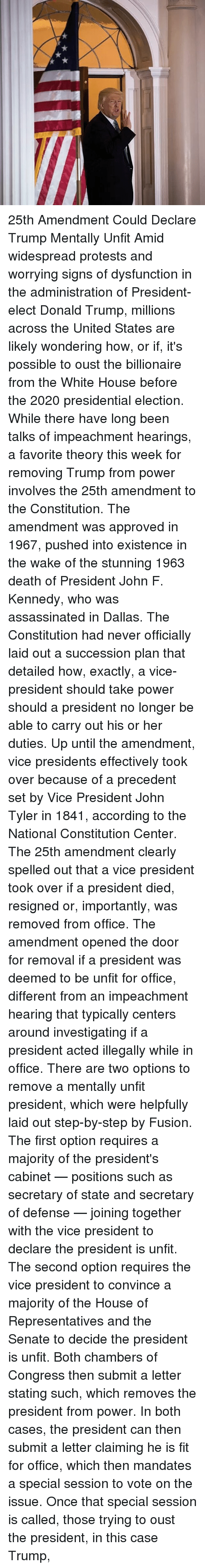 the us 25th amendment of the constitution in 1967