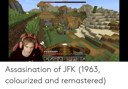 Jfk, And, and Assasination: 28  10 47 Assasination of JFK (1963, colourized and remastered)