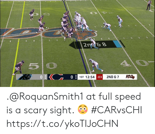 Memes, 🤖, and Speed: 2n &8  0  1ST 12:54:03  2ND & 7 .@RoquanSmith1 at full speed is a scary sight. 😳  #CARvsCHI https://t.co/ykoTIJoCHN