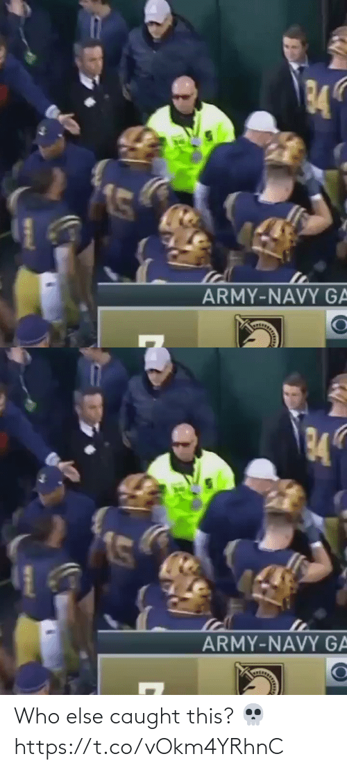 Army: 34  ARMY-NAVY GA   34  ARMY-NAVY GA Who else caught this? 💀 https://t.co/vOkm4YRhnC