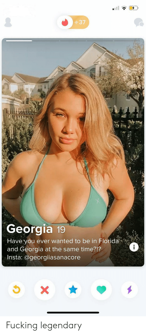 Same Time: 37  Georgia 19  Have you ever wanted to be in Florida  and Georgia at the same time?!?  Insta: @georgiiasanacore  i  X Fucking legendary
