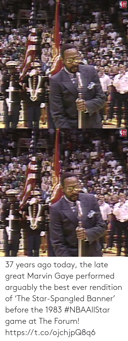 Star: 37 years ago today, the late great Marvin Gaye performed arguably the best ever rendition of 'The Star-Spangled Banner' before the 1983 #NBAAllStar game at The Forum!    https://t.co/ojchjpQ8q6