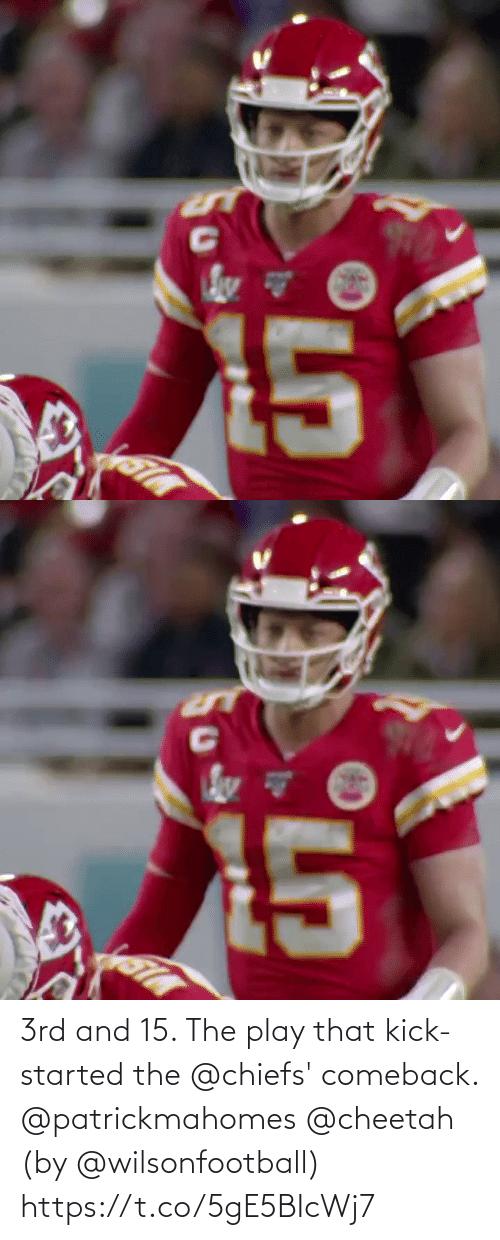 Comeback: 3rd and 15. The play that kick-started the @chiefs' comeback. @patrickmahomes @cheetah (by @wilsonfootball) https://t.co/5gE5BIcWj7