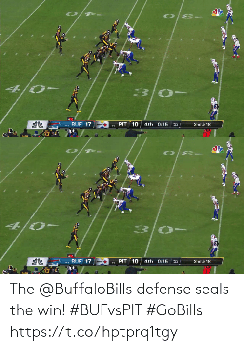 defense: 4/0-  9-4 BUF 17  Muk  PIT 10  4th 0:15  :22  2nd & 18  8-5  Suelery   4/0-  9-4 BUF 17  Muk  PIT  10  4th 0:15  2nd & 18  :22  8-5  Sudere The @BuffaloBills defense seals the win! #BUFvsPIT #GoBills https://t.co/hptprq1tgy