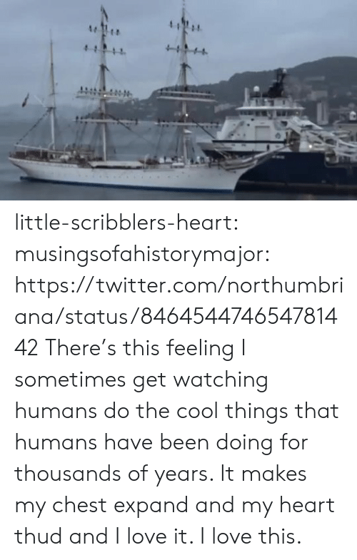 My Chest: 4  4  411 little-scribblers-heart:  musingsofahistorymajor:   https://twitter.com/northumbriana/status/846454474654781442   There's this feeling I sometimes get watching humans do the cool things that humans have been doing for thousands of years. It makes my chest expand and my heart thud and I love it. I love this.