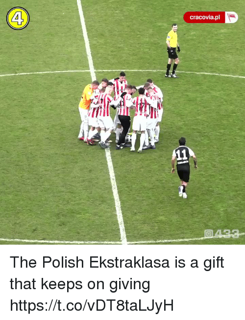 Memes, 🤖, and Polish: 4  cracovia.pl The Polish Ekstraklasa is a gift that keeps on giving  https://t.co/vDT8taLJyH