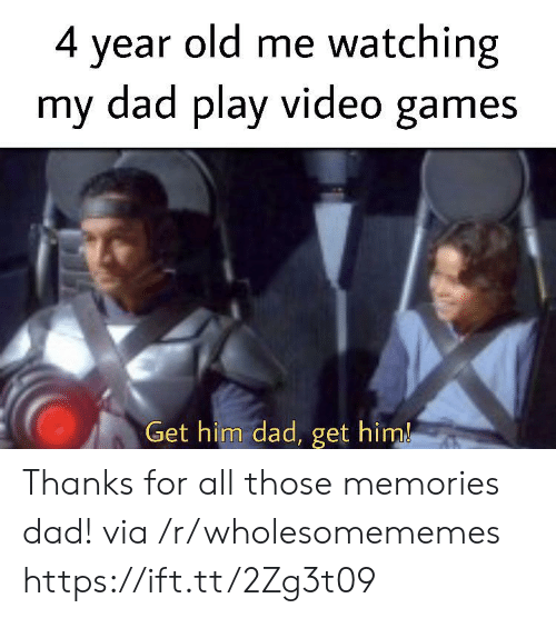 Dad, Video Games, and Games: 4 year old me watching  my dad play video games  Get him dad, get him! Thanks for all those memories dad! via /r/wholesomememes https://ift.tt/2Zg3t09