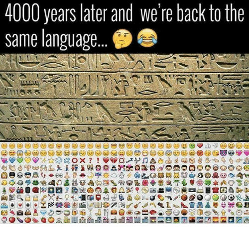 Dank, Back, and 🤖: 4000 years later and we're back to the  same language...