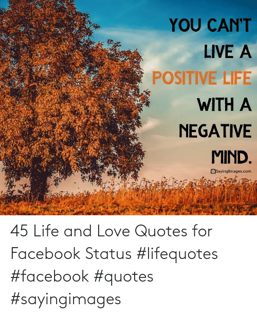 Life: 45 Life and Love Quotes for Facebook Status #lifequotes #facebook #quotes #sayingimages