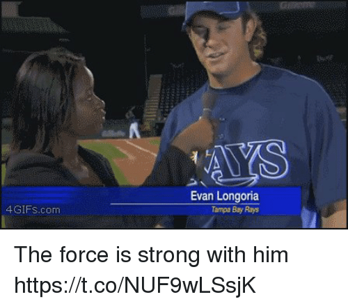Force Is Strong: 4GIFS.com  Evan Longoria  Tampa Bay Rays The force is strong with him https://t.co/NUF9wLSsjK