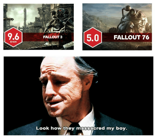Fallout: 5.0 FALLOUT 76  FALLOUT 3  IGN  Look how they massacred my boy.