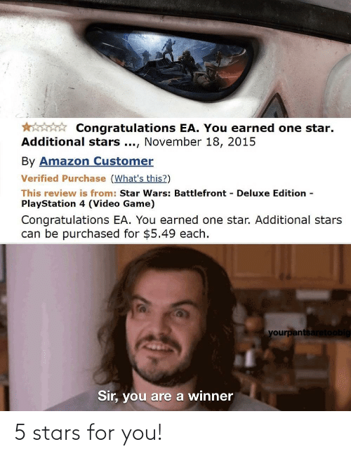Stars: 5 stars for you!