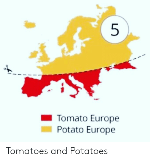 potatoes: 5  Tomato Europe  Potato Europe Tomatoes and Potatoes
