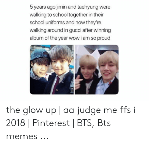 5 Years Ago Jimin and Taehyung Were Walking to School