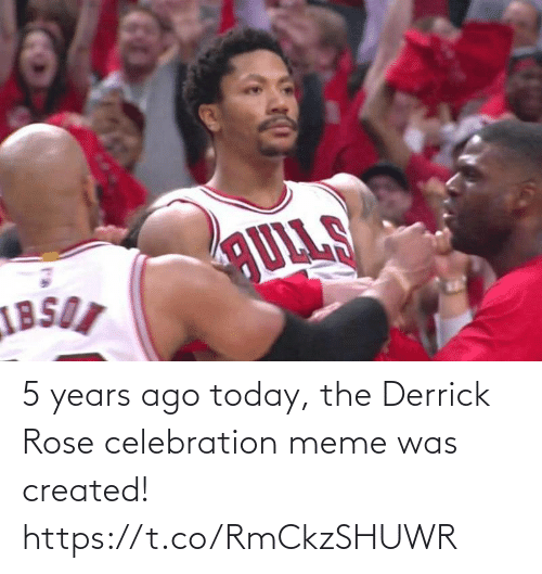 celebration: 5 years ago today, the Derrick Rose celebration meme was created! https://t.co/RmCkzSHUWR