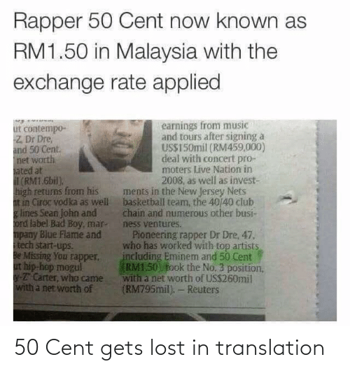 Lost: 50 Cent gets lost in translation