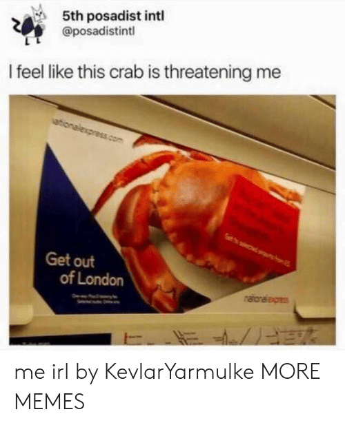Dank, Memes, and Target: 5th posadist intl  @posadistintl  I feel like this crab is threatening me  ationalexpress.com  Get out  of London  naioraleges me irl by KevlarYarmulke MORE MEMES