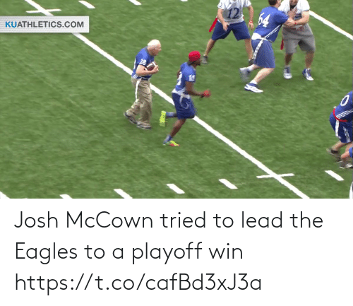 Josh: 64  KUATHLETICS.COM Josh McCown tried to lead the Eagles to a playoff win https://t.co/cafBd3xJ3a