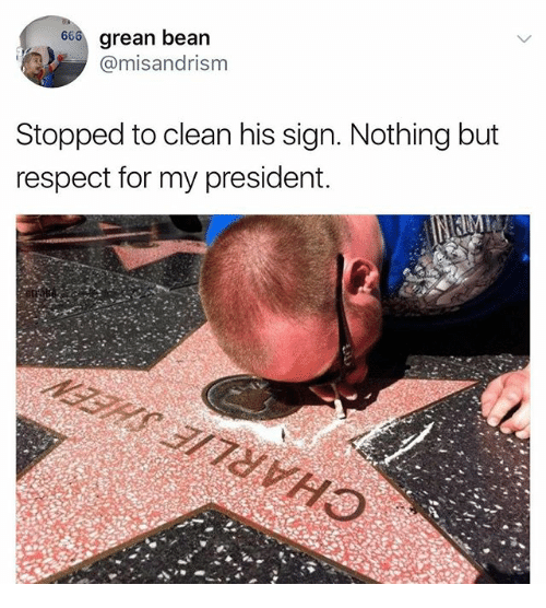 DeMarcus Cousins, Memes, and Respect: 666 grean bean  @misandrism  Stopped to clean his sign. Nothing but  respect for my president.