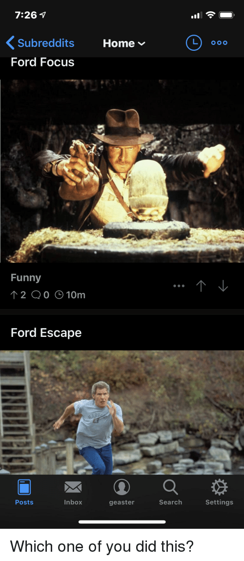 Funny Focus And Ford 7 26 V Subreddits Home