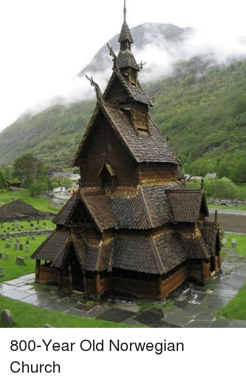 Church, Norwegian, and Old: 800-Year Old Norwegian Church