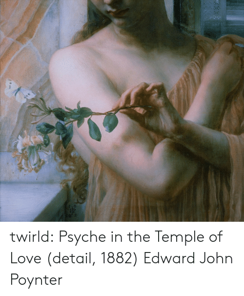 Love, Tumblr, and Blog: 8P2 twirld: Psyche in the Temple of Love (detail, 1882) Edward John Poynter