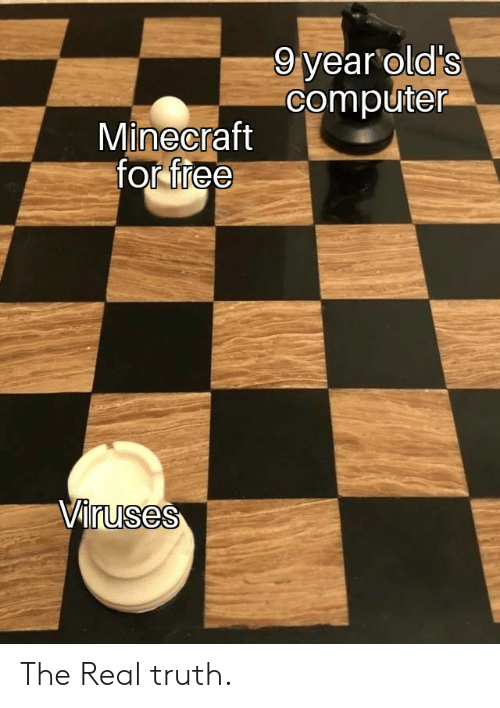 Minecraft, Computer, and Free: 9 year old's  computer  Minecraft  for free  Viruses The Real truth.