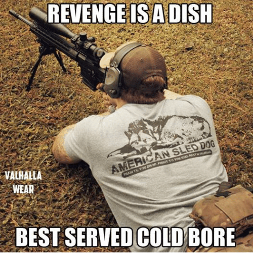 Bored, Dogs, and Revenge: REVENGE IS ADISH  VALHALLA  AMERICAN SLED DOG  WEAR  TRAIN TIL YOU DROP, FIGHT T THE EHO. REST  BEST SERVED-COLD BORE  SERTEDCO10ME