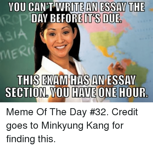 YOU CANT WRITE AN ESSAY THE DAY BEFORE ITS DUE THIS EXAM HAS