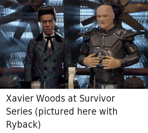 ryback: Xavier Woods at Survivor Series (pictured here with Ryback)