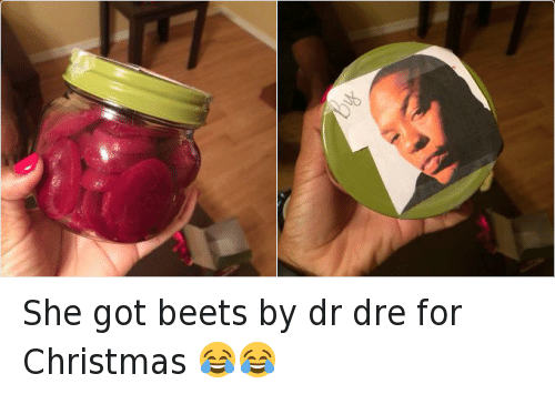 """N.W.A.: Last summer's hit film """"Straight Outta Compton,"""" about rap group N.W.A., offered the perfect foundation for """"Straight Outta..."""" memes, and N.W.A. member Dr. Dre is no stranger to memes of his own, as shown here. You may not know, though, that his movie career started with a small part in 1996's """"Set It Off,"""" in which he played weapons dealer Black Sam. The role was credited under his birth name, Andre Young. She got beets by dr dre for Christmas 😂😂"""