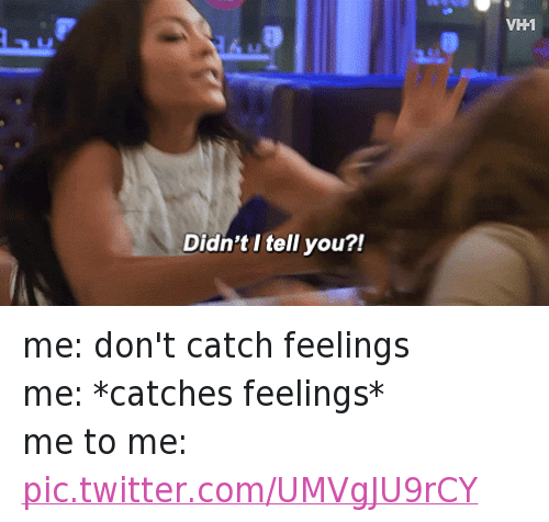 Didnt I Tell You Vh1 Me Dont Catch Feelings Me Catches Feelings