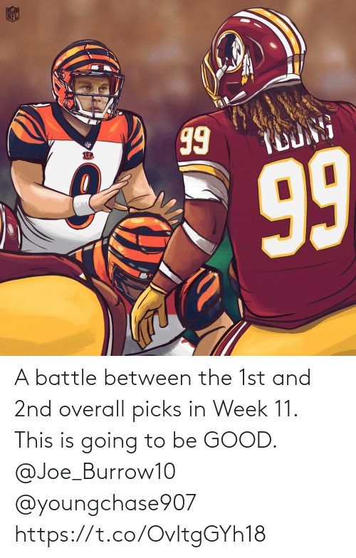 week: A battle between the 1st and 2nd overall picks in Week 11.   This is going to be GOOD. @Joe_Burrow10 @youngchase907 https://t.co/OvItgGYh18