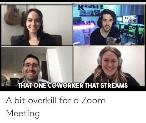 meeting: A bit overkill for a Zoom Meeting