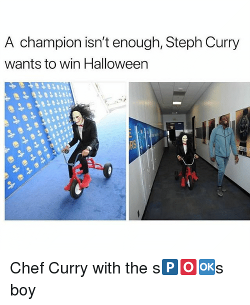 Chef Curry, Halloween, and Memes: A champion isn't enough, Steph Curry  wants to win Halloween Chef Curry with the s🅿️🅾️🆗️s boy