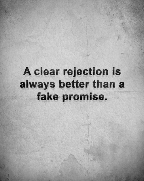Fake, Memes, and 🤖: A clear rejection is  always better than a  fake promise.