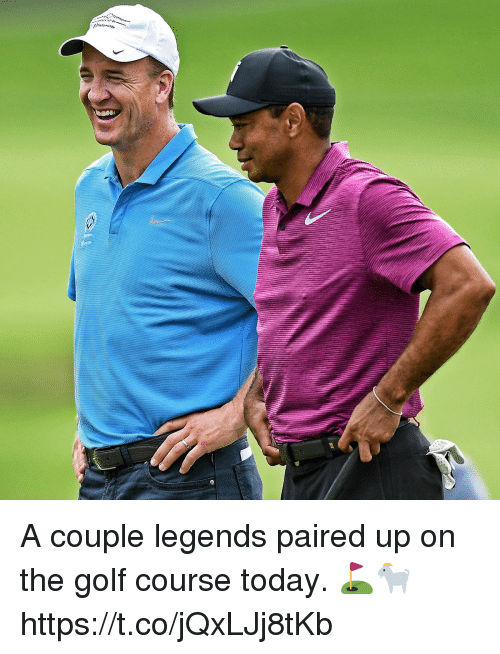 Memes, Golf, and Today: A couple legends paired up on the golf course today. ⛳️🐐 https://t.co/jQxLJj8tKb