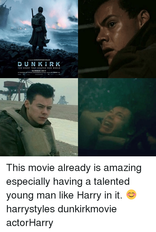 christopher nolan: A FILM BY CHRISTOPHER NOLAN  THE EVENT THAT SHA PED OUR WORLD  SUMMER 2017  D SPEC This movie already is amazing especially having a talented young man like Harry in it. 😊 harrystyles dunkirkmovie actorHarry