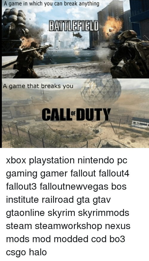 A Game in Which You Can Break Anything BATTLEFIELD a Game