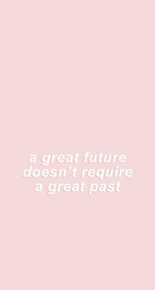 Future, Great, and Past: a great future  doesn't require  a great past