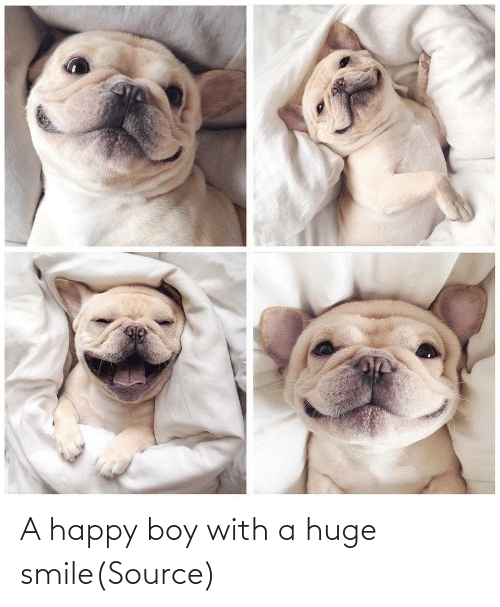 Smile: A happy boy with a huge smile(Source)