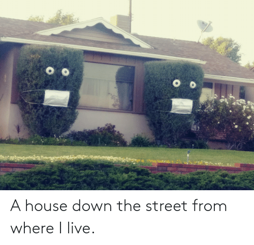 i live: A house down the street from where I live.