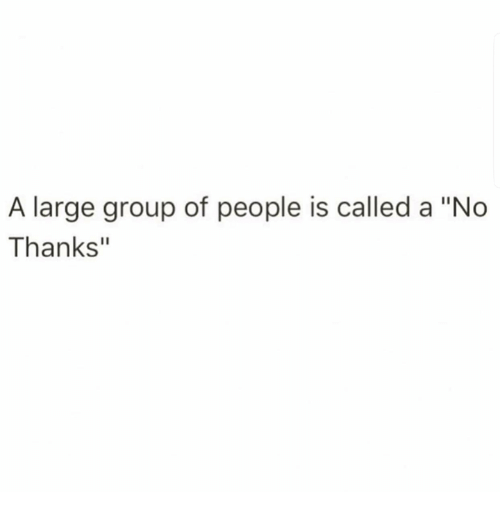 """Humans of Tumblr, Group, and People: A large group of people is called a """"No  Thanks"""""""